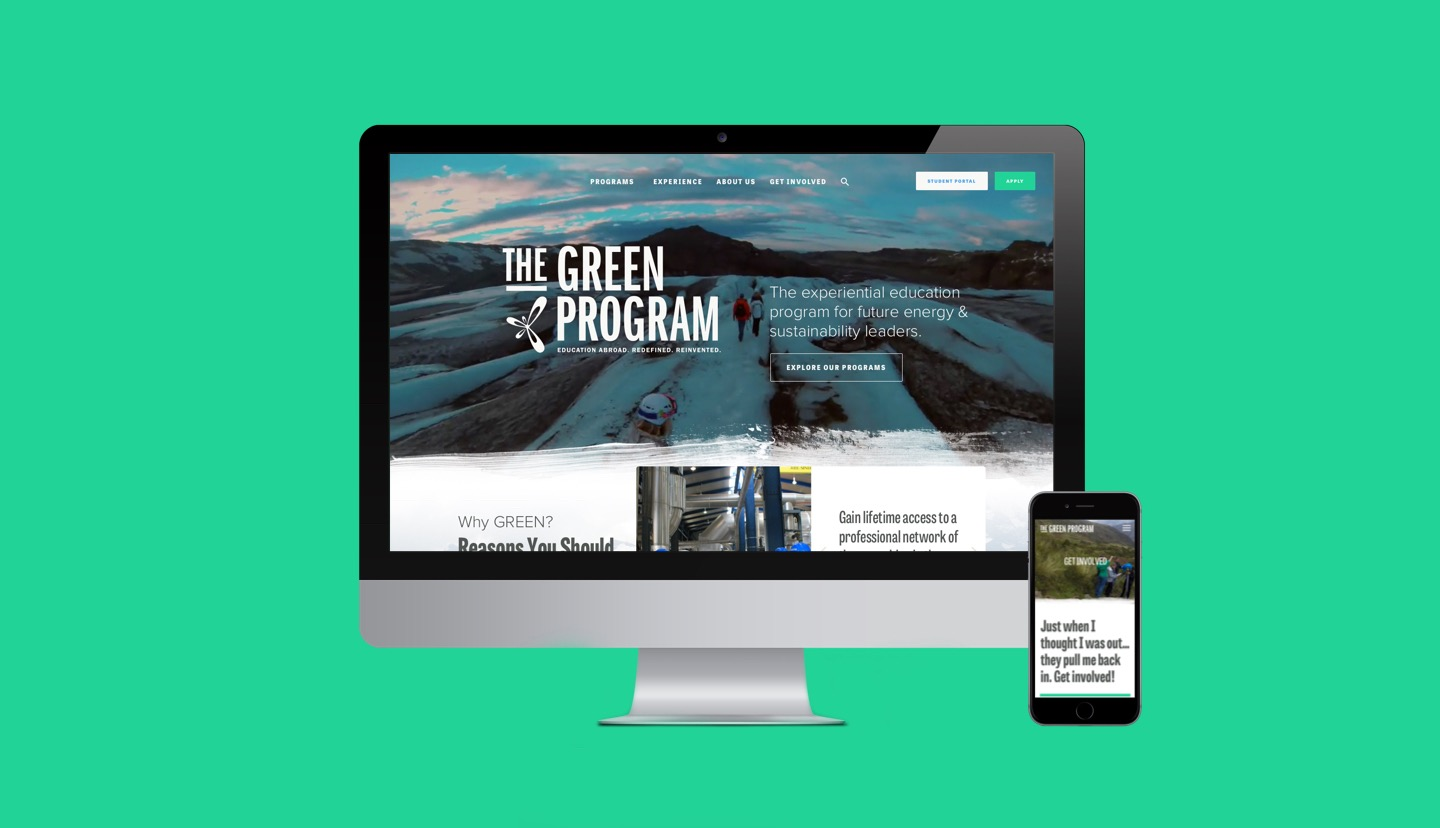 The GREEN Program imac and iphone