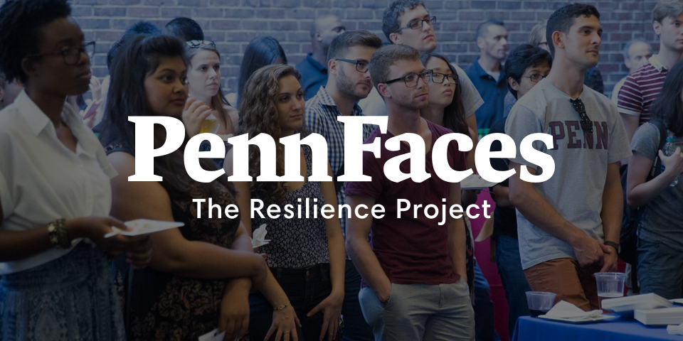 Penn Faces: The resilience project - wordmark