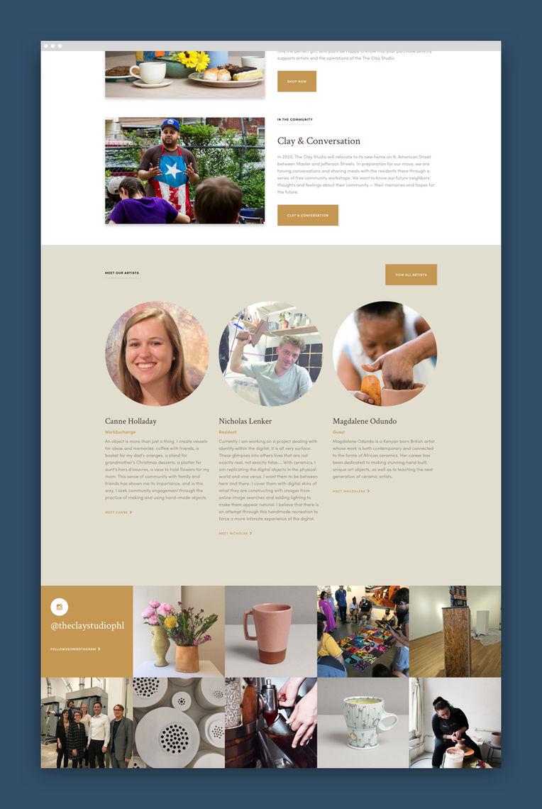 clay studio webpage