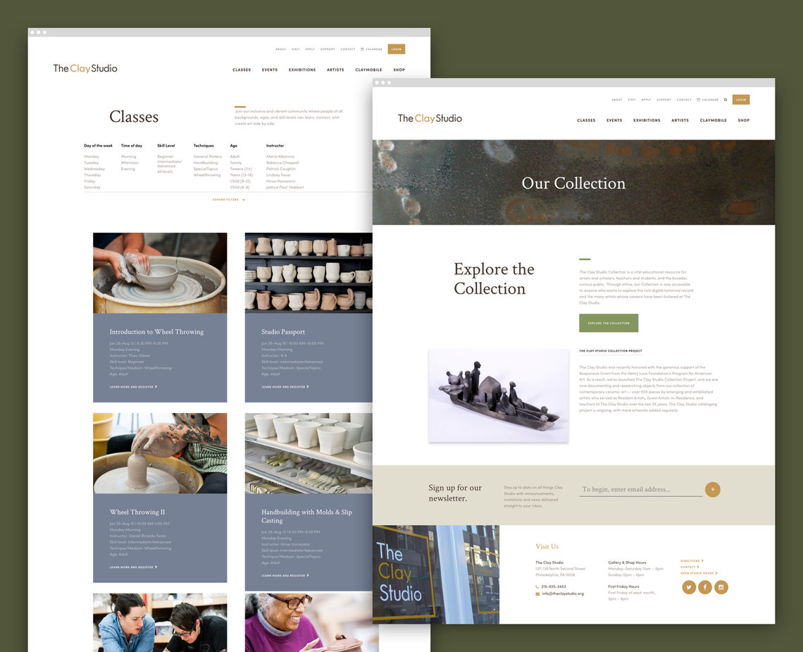 clay studio webpages