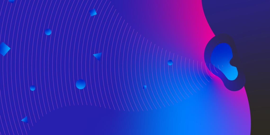 Illustration of a listening ear