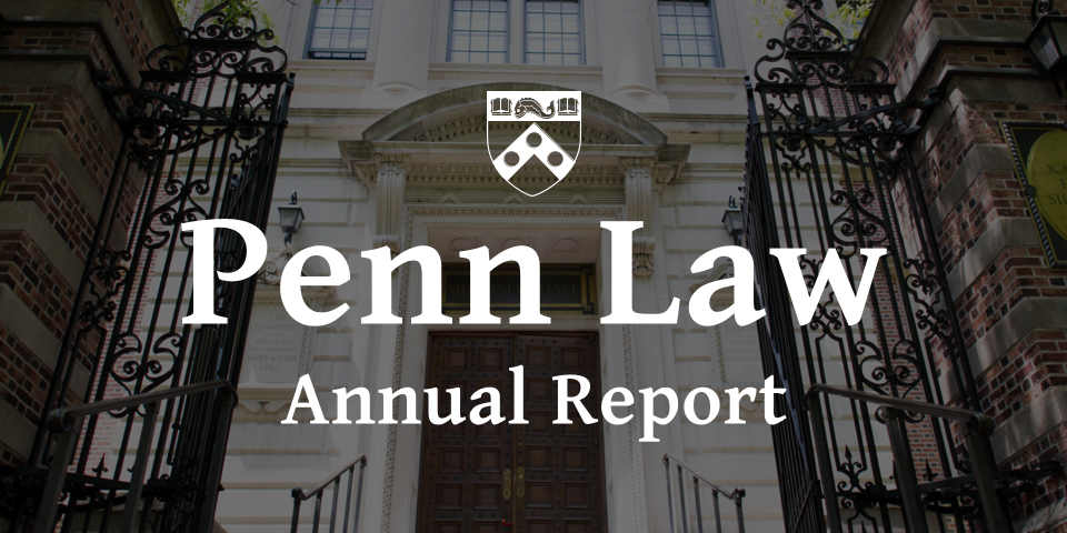 Penn Law annual report wordmark