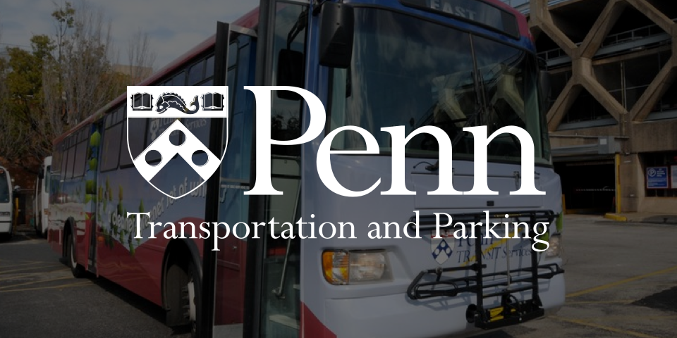 penn transportation & parking wordmark
