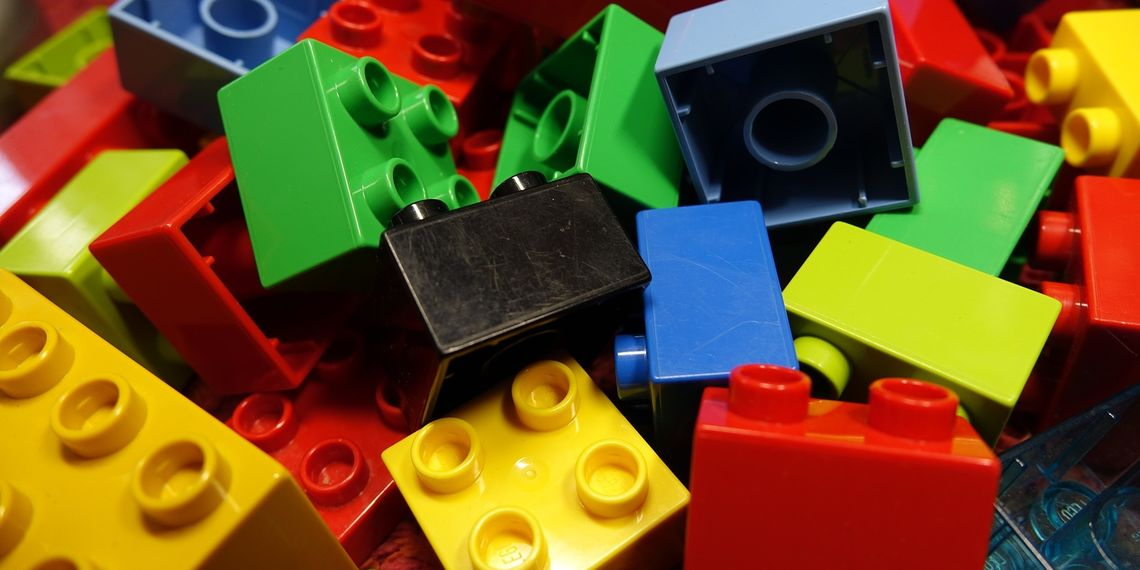 Picture of a pile of multicolored lego blocks