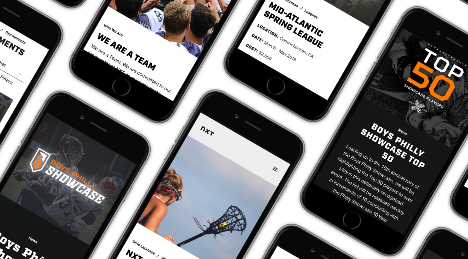 NXT mobile screens